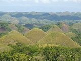 Chocolate Hills, Conical Hills in Tropical Limestone Karst, Carmen, Bohol, Philippines Photographic Print