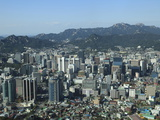 Overview of City, Seoul, South Korea, Asia Photographic Print by Wendy Connett