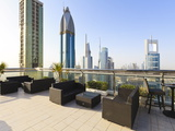 Cityscape Seen From Rooftop Bar, Sheikh Zayed Road, Dubai, United Arab Emirates, Middle East Photographic Print by Amanda Hall