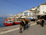 Small Boats in the Harbour of the Island of Hydra, Greek Islands, Greece, Europe Photographic Print