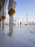 Gilded Columns of Sheikh Zayed Bin Sultan Al Nahyan Mosque, Abu Dhabi, United Arab Emirates Photographic Print
