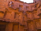 Old Ksar (Collective Granaries) in the Southern Part of Morocco Near Tafraoute, Morocco Photographic Print
