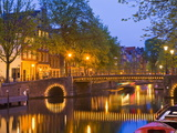 Brouwersgracht at Dusk, Amsterdam, Netherlands, Europe Photographic Print by Amanda Hall