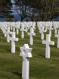 American Cemetery at Omaha Beach, Colleville-Sur-Mer, Normandy, France, Europe Photographic Print