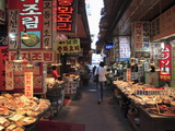 Food Vendors, Namdaemun Market, Seoul, South Korea, Asia Photographic Print by Wendy Connett