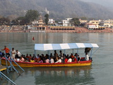 River Ganges Boat, Rishikesh, Uttarakhand, India, Asia Photographic Print