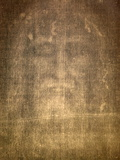 Detail of Shroud of Turin in Chiesa Della Ss. Annunziata Church, Turin, Piedmont, Italy, Europe Photographic Print