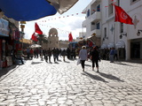 Tourists Walking to the Medina, Place Des Martyrs, Sousse, Tunisia, North Africa, Africa Photographic Print by Dallas & John Heaton
