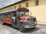 The Colorful Chicken Bus of Guatemala, Antigua, Guatemala, Central America Photographic Print
