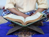 Muslim Man Reading the Quran in Mosque, Ho Chi Minh City, Vietnam, Indochina, Southeast Asia, Asia Photographic Print