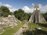Temple No. 1 (Jaguar Temple) With North Acropolis on the Left, Tikal, Guatemala Photographic Print