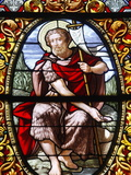 Stained Glass of John the Baptist, Saint-Louis Cathedral, Versailles, France, Europe Photographic Print