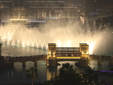 Dubai Fountain, Burj Khalifa Lake, Downtown, Dubai, United Arab Emirates, Middle East Photographic Print by Amanda Hall