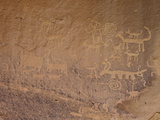 Petroglyphs Near Una Vida, Chaco Culture National Historic Park, New Mexico, USA Photographic Print by James Hager
