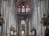 Central Nave and Chancel, Bourges Cathedral, UNESCO World Heritage Site, Bourges, Cher, France Photographic Print