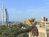 Burj Al Arab, Seen From the Madinat Jumeirah Hotel, Jumeirah Beach, Dubai, Uae Photographic Print by Amanda Hall