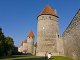 The Old City Walls of the Old Town of Tallinn, Estonia, Baltic States, Europe Photographic Print