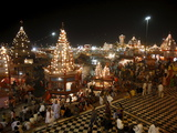 Har-Ki-Pauri Lit Up at Night During the Kumbh Mela, Haridwar, Uttarakhand, India, Asia Photographic Print