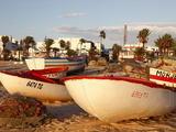 Fishing Boats By the Harbour, Hammamet, Tunisia, North Africa, Africa Stampa fotografica di Dallas & John Heaton