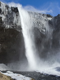 Seljalandsfoss Waterfall in the Snow, South Iceland, Iceland, Polar Regions Photographic Print
