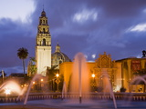 Fountain and Museum of Man in Balboa Park, San Diego, California Photographic Print