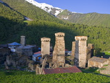 The Fortified Village of Ushguli, Svanetia, UNESCO World Heritage Site, Georgia, Caucasus Photographic Print