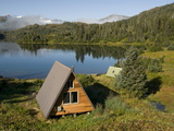 Us Forest Service Cabin, Shrode Lake, Prince William Sound, Alaska, USA Photographic Print