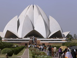 Baha'I House of Worship, Lotus Temple, Delhi, India, Asia Photographic Print
