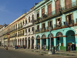 Old Colonial Houses in the Center of Havana, Cuba, West Indies, Caribbean, Central America Fotografie-Druck