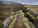 Fault in the Landscape at Thingvellir National Park Near Reykjavik, Iceland Photographic Print by Lee Frost