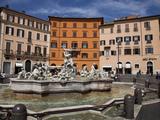 Neptune Fountain, Piazza Navona, Rome, Lazio, Italy, Europe Photographic Print by Carlo Morucchio