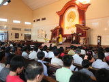 Catholic Mass in a Vietnamese Church, Ho Chi Minh City, Vietnam, Indochina, Southeast Asia, Asia Photographic Print