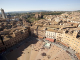 View of Piazza Del Campo From the Tower of Mangia, Siena, Tuscany, Italy, Europe Photographic Print by Oliviero Olivieri