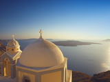 Church at Sunset, Santorini, Cyclades, Greek Islands, Greece, Europe Photographic Print