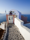 Entrance to a Typical Village House in Oia, Santorini (Thira), Cyclades Islands, Greece Photographic Print by Gavin Hellier
