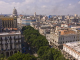 View Over the Old Town of Havana, Cuba, West Indies, Caribbean, Central America Photographic Print