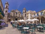 Plaza De La Catedral, Havana Vieja, UNESCO World Heritage Site, Havana, Cuba Photographic Print