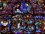 Stained Glass of the Last Judgment in Bourges Cathedral, Bourges, Cher, France, Europe Photographic Print