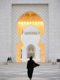 Main Entrance, Sheikh Zayed Grand Mosque, Abu Dhabi, United Arab Emirates, Middle East Fotografie-Druck