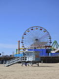 Santa Monica Pier, Santa Monica, Los Angeles, California, United States of America, North America Photographic Print