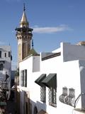 Minaret of the Hammouda Pasha Mosque (Hamouda Pacha Al Mouradi), Medina, Tunis, Tunisia Stampa fotografica di Dallas & John Heaton