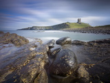 Dunstanburgh Castle with Rocky Coastline in Foreground, Embleton Bay, England Photographic Print by Lee Frost