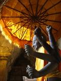 Vishnu Statue, Angkor Wat, Angkor, UNESCO World Heritage Site, Siem Reap, Cambodia Photographic Print