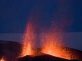 Fountaining Lava From Eyjafjallajokull Volcano, Iceland, Polar Regions Fotografická reprodukce