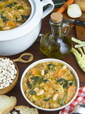 Ribollita Soup, Made with Beans, Cabbage, Carrot, Onion, Bread, Potato and Olive Oil, Florence Photographic Print