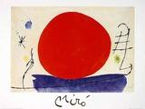 Ohne Titel (Rote Sonne), c.1967 Art by Joan Miró