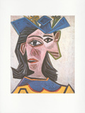Frauenb&#252;ste mit Hut (Dora),1939 Collectable Print by Pablo Picasso