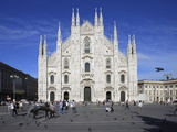 Piazza Duomo, Milan, Lombardy, Italy, Europe Photographic Print