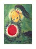 Grüne Landschaft, c.1949 Prints by Marc Chagall