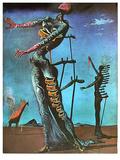 Die brennende Giraffe Pósters por Salvador Dalí